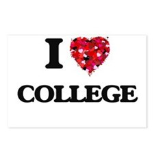 I Love College Postcards (Package of 8)