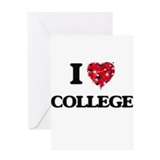 I Love College Greeting Cards
