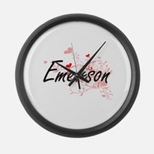 Emerson Artistic Design with Hear Large Wall Clock