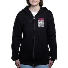 Quilter Badass Job Title Women's Zip Hoodie