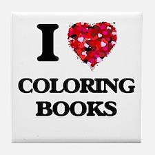 I love Coloring Books Tile Coaster