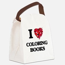 I love Coloring Books Canvas Lunch Bag