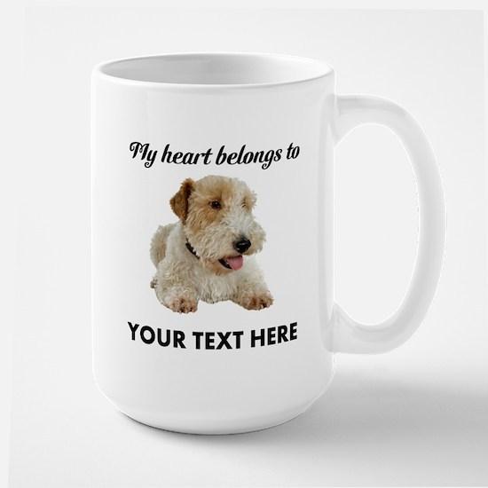 Custom Wire Fox Terrier Large Mug
