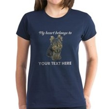Custom Yorkshire Terrier Women's Dark T-Shirt