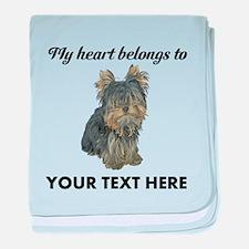 Custom Yorkshire Terrier baby blanket