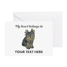 Custom Yorkshire Terrier Greeting Card