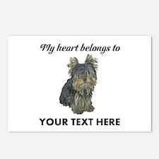 Custom Yorkshire Terrier Postcards (Package of 8)
