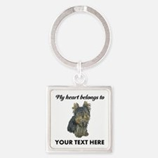 Custom Yorkshire Terrier Square Keychain