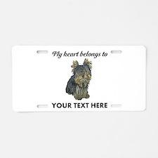 Custom Yorkshire Terrier Aluminum License Plate