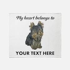 Custom Yorkshire Terrier Throw Blanket