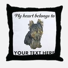 Custom Yorkshire Terrier Throw Pillow
