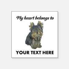 "Custom Yorkshire Terrier Square Sticker 3"" x 3"""