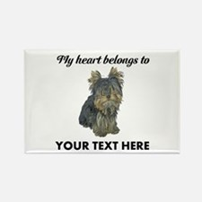 Custom Yorkshire Terrier Rectangle Magnet