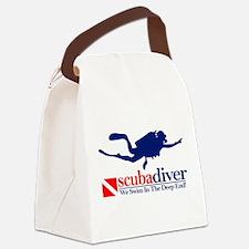 scubadiver Canvas Lunch Bag