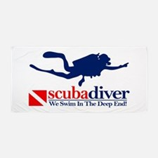 scubadiver Beach Towel
