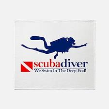scubadiver Throw Blanket