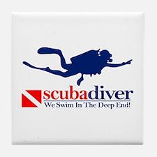 scubadiver Tile Coaster