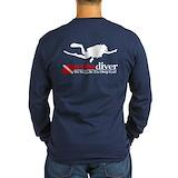 Scuba diving Long Sleeve Dark T-Shirts