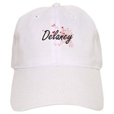 Delaney Artistic Design with Hearts Baseball Cap