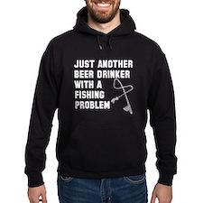 Beer drinker fishing problem Hoodie