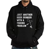 Fishing and beer Dark Hoodies