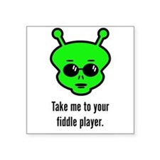"Funny Music Square Sticker 3"" x 3"""