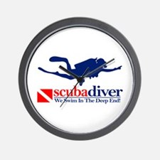 scubadiver Wall Clock