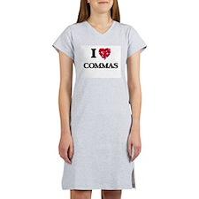 I love Commas Women's Nightshirt