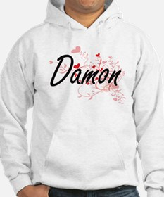 Damon Artistic Design with Heart Hoodie