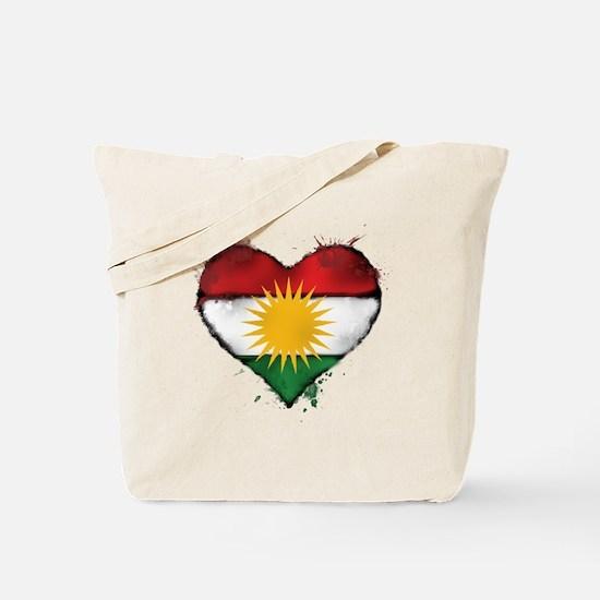 Kurdistan Heart Flag Tote Bag