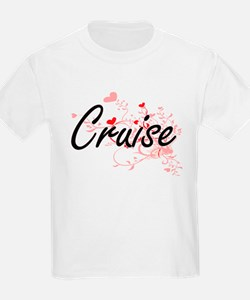Cruise Artistic Design with Hearts T-Shirt