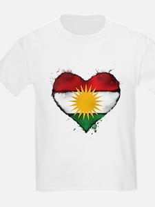 Kurdistan Heart Flag T-Shirt