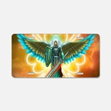 Angel Of God Aluminum License Plate