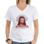 Who Would Jesus Bomb? Women's V-Neck T-Shirt