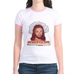 Who Would Jesus Bomb? Jr. Ringer T-Shirt