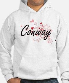 Conway Artistic Design with Hear Hoodie
