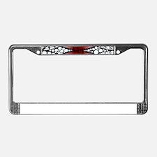 Celtic Knot Doodle Red License Plate Frame