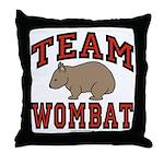 Team Wombat III Throw Pillow