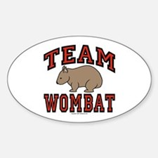 Team Wombat III Oval Decal
