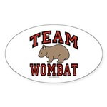 Team Wombat III Oval Sticker