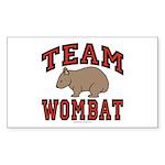 Team Wombat III Rectangle Sticker