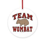 Team Wombat III Ornament (Round)