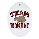Team Wombat III Oval Ornament
