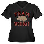 Team Wombat III Women's Plus Size V-Neck Black Tee