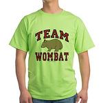 Team Wombat III Green T-Shirt