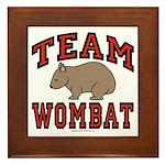 Team Wombat III Framed Tile