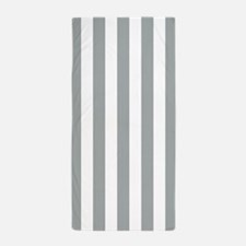 Paloma and White Vertical Striped Beach Towel