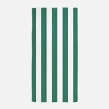 Comfrey and White Vertical Striped Beach Towel