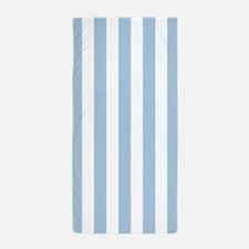 Lt. Blue and White Vertical Striped Beach Towel
