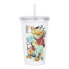 Be Bold Pitbull Acrylic Double-wall Tumbler